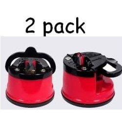 High Quality Knife Sharpener With Suction Pad Base With Tungsten Steel Grinders (2 Packs)