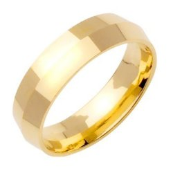 14K Gold Traditional Knife Edge Women'S Wedding Band (6Mm) Size-4