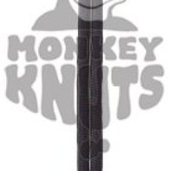 """Large Monkey Fist Keychain - Black 1"""" Steel Ball Core - 9Mm Brass Bullet Casing"""