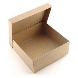 Paper Mache Square Box 7 1/2 In. By Craft Pedlars