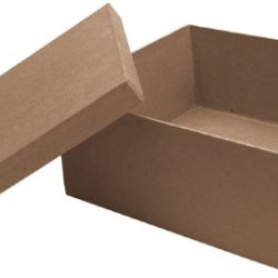 Dcc Paper Mache Square Box, 7 By 7 By 3-Inch