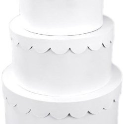Darice 2849-57, 3-Stacked Primed Paper Mache Cake Box, White
