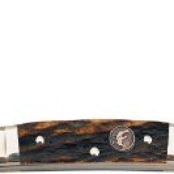 Hen & Rooster Medium Congress Folding Knife,Carbon Steel, Genuine Deer Stag Handle 324C-Ds