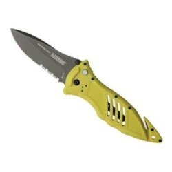Blackhawk! Cqd Mark 1 Type E Manual Folding Knife In Yellow - Serrated Edge