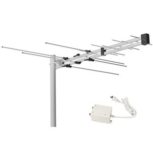 1byone-Digital-Amplified-Outdoor-Attic-HDTV-Antenna-70-Miles-Range-with-Power-Supply-Box-for-VHF-and-UHF-Band