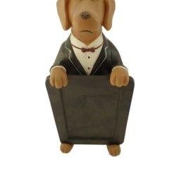 Fat Chef Dog Waiter Chalk Board Menu Statue Kitchen Figure Statue Collectible D64404