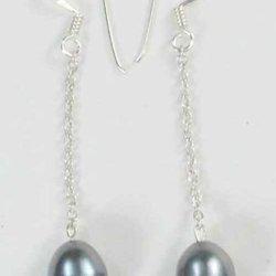 Handmade Sterling Silver Fresh Water Pearl Dangle Earrings