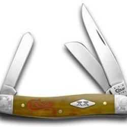 Case Xx Smooth Antique Bone Case Logo Scrolled 1/500 Stockman Pocket Knife Knives