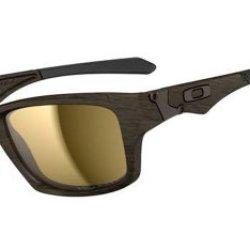 Oakley Men'S Jupiter Polarized Square Sunglasses,Woodgrain Frame/Tungsten Lens,One Size