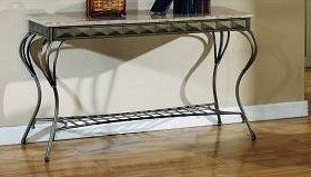 Image of ELEGANT NEW MARBLE STYLE CONSOLE SOFA TABLE (VF_F6041)