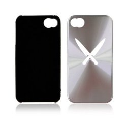 Apple Iphone 4 4S 4G Silver A1411 Aluminum Hard Back Case Cover Chef Knives