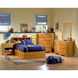 Image of Kids Bedroom Furniture Set in Country Pine - South Shore Furniture - 3432-BSET-1 (3432-BSET-1)