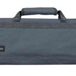 Messermeister 8-Pocket Padded Knife Roll, Gray