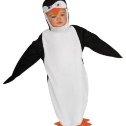 Penguins Of Madagascar Baby Bunting And Headpiece Skipper, Skipper Print, 0-9 Months Costume