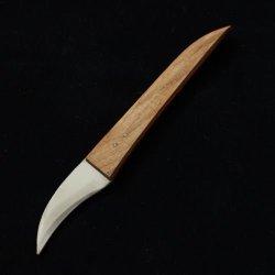 """Big 1-Blade 1.6"""" Thai Fruit Vegetable Soap Carving Knife Handicraft Wooden Handle"""