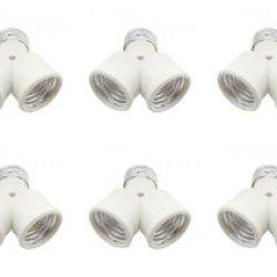 ** 10 Pack ** 12Vmonster ® Edison Light Bulb Socket Changer Fitting Adapter E26 Splitter Turn 1 Socket Into 2 ** 10 Pack **