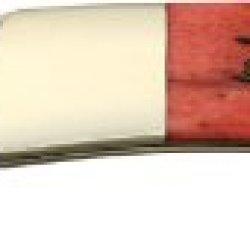 Frost Cutlery & Knives 15883Rpb Hoof & Hay Lockback Knife With Red Pick Bone Handles
