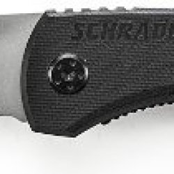 Schrade Sch101 Stainless Steel Drop-Point Folding Liner-Lock Pocket Knife, 2.5-Inch