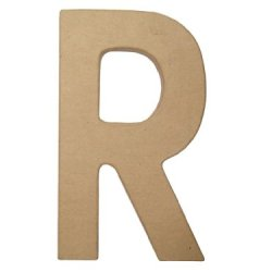 Paper Mache Letter R By Craft Pedlars 8 In.