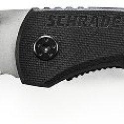 Schrade Sch101S Serrated Stainless Steel Drop-Point Folding Liner-Lock Pocket Knife, 2.5-Inch