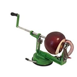 Fast, Easy, Safe Apple Peeler, Corer, Slicer! Bonus Real Stainless Steel Blade Free (10 Dollar Value) Peel Apples/Potatoes In Seconds! No More Dangerous Paring Knives, Perfect Slices Every Time! Quality Professional Grade Slicing Machine!