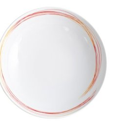 Kahla Five Senses Soup Plate Deep 8-1/4 Inches, Whirl Red Yellow Color, 1 Piece
