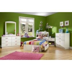 Image of Kids Bedroom Furniture Set in Pure White - South Shore Furniture - 3360-BSET-1 (3360-BSET-1)