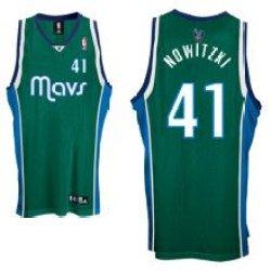 Dallas Mavericks #41 Dirk Nowitzki Swingman Green Men Jersey-Xl