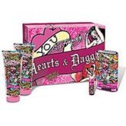 Ed Hardy Hearts & Daggers By Ed Hardy - Gift Set -- 3.4 Oz Eau De Parfum Spray + 3 Oz Body - Women