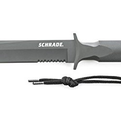 Schrade Schf2 Extreme Survival Steel Special Forces Fixed Blade Knife With Nylon Sheath