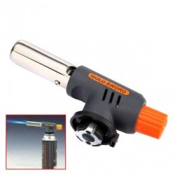 Gas Butane Torch Burner Auto Ignition Cooking Welding Flamethrower Camping Bbq Outdoor Travel Soldering