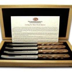 Case Xx Laminated Hardwood Miracl-Edge 4 Piece Set Steak Knife Knives