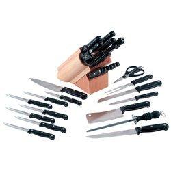 16 Pc Cutlery In Block (Cutlery - Wood Block Sets)