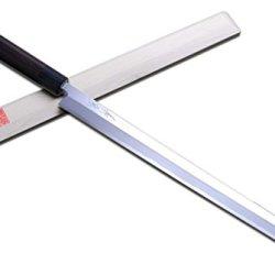 Yoshihro Shiroko High Carbon Steel Kasumi Takobiki Sushi Sashimi Japanese Chef'S Knife 11.8 Inch(300Mm) Shitan Handle