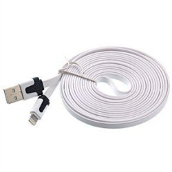 Deals & Bargains 8 Pin Lightning To Usb Data Sync Charging Cable For Iphone 5 5S And 5C For Iphone 6 6 Plus- White-Flat