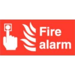 Fire Alarm Symbol Sign Self Adhesive Vinyl. 100 X 200Mm.