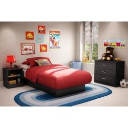 Image of Kids Bedroom Furniture Set in Solid Black - South Shore Furniture - 3070-BSET-12 (3070-BSET-12)