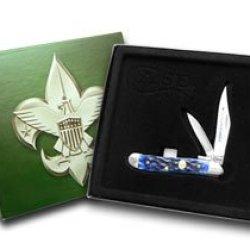 Case Xx Boy Scouts Of America Navy Blue Peanut Pocket Knife Knives