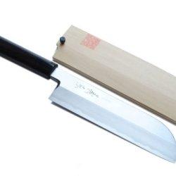 Yoshihiro Shiroko High Carbon Steel Kasumi Kama Usuba Japanese Vegetable Chef'S Knife 7.7Inch(195Mm)With Shitan Handle