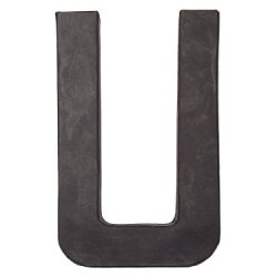 Paper Mache Letter U By Craft Pedlars Black 8 In.