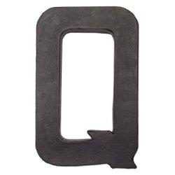 Paper Mache Letter Q By Craft Pedlars Black 8 In.