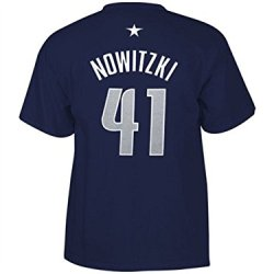 Adidas Men'S Dallas Mavericks Dirk Nowitzki Player T-Shirt