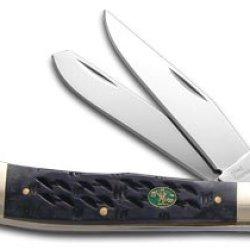 Steel Warrior Gator Back Black Bone Trapper Stainless Pocket Knife Knives