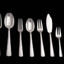 A Stunning 160 Pc. Art Deco Antique Sterling Silver Flatware Set By Internationally Known French Silversmiths Ravinet D'Enfer, Direct From Paris, The Birth Place Of Art Deco (Circa 1900) + 12 Anti Tarnish Storage Trays And Certificate Of Antiquity !!