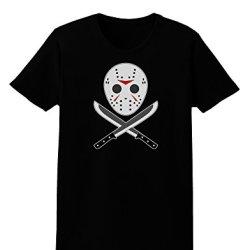 Scary Mask With Machete - Halloween Womens Dark T-Shirt - Black - Xs