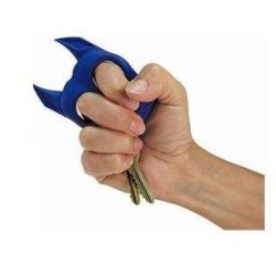 Liroyal Brutus The Bull Dog Self Defense Keychain Blue