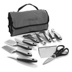 New Wolfgang Puck 12 Pc Elite Prep & Garnish Set With Storage Case (Black)