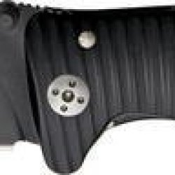 Lion Steel Knives Sr1Abb Black Finish Molletta Linerlock Knife With Grooved Black Aluminum Handles