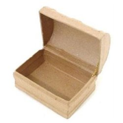 Paper Mache Mini Chest Box By Craft Pedlars