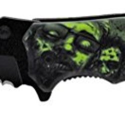 "4.75"" Spring Assist Zombie Killer Knife - Green"